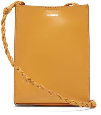 Jil Sander Tangle Small Knotted-strap Leather Cross-body Bag - Womens - Yellow