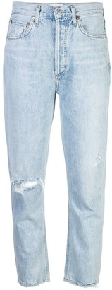 AGOLDE Distressed Straight Leg Jeans