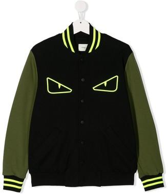 Fendi TEEN Angry Eyes bomber jacket