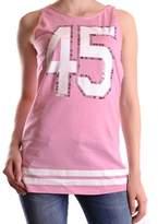Pinko Women's Pink Cotton Tank Top.