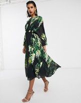 Asos Edition EDITION embellished trailing floral midi dress