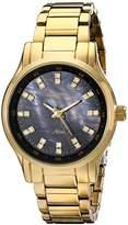 Swarovski Armitron Women's 75/5100JMGP Crystal Accented Gold-Tone Bracelet Watch