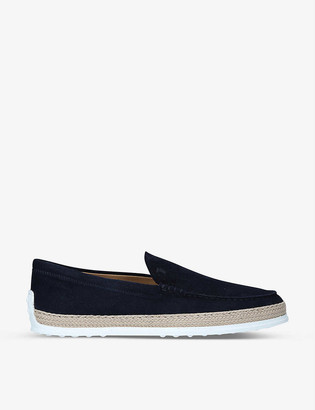 Tod's Pontofola contrast-sole suede moccasins