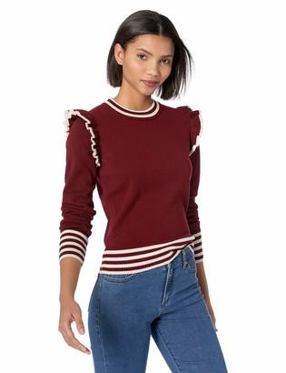 The Fifth Label Women's Allegiance Varsity Stripe Ruffle Knit Sweater