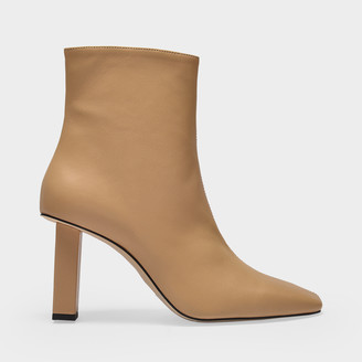 Anny Nord Boots Joan Le Carre In Beige Leather