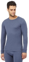 Maine New England Big And Tall Blue Brushed Thermal Long Sleeved Top