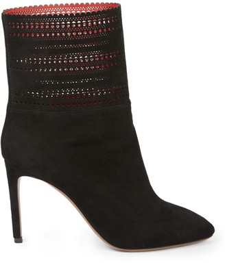 Alaia Laser Cut Leather Ankle Boots