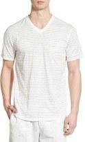 Nordstrom Short Sleeve Stripe V-Neck T-Shirt