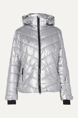 Bogner Fire & Ice Bogner BOGNER Sassy2 Hooded Quilted Metallic Shell Ski Jacket - Silver