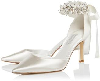 Dune London Bridal Wide Fit Clarette Heeled Shoe - Ivory