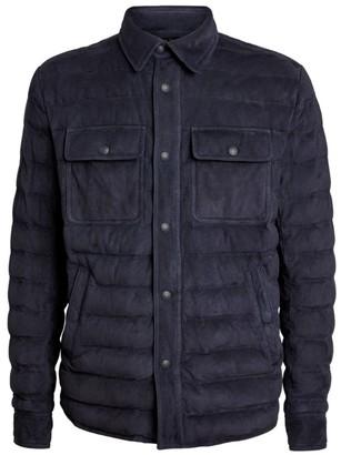 Ralph Lauren Purple Label Suede Down-Filled Jacket