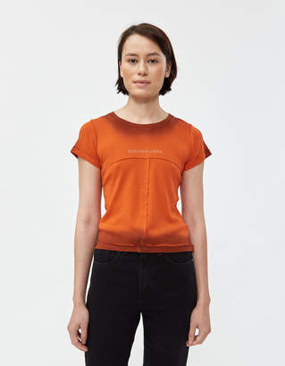 Eckhaus Latta Lapped Baby Tee in Orange Grey Tip