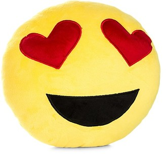 My Emoji Heart-Eyed Emoji Accent Cushion