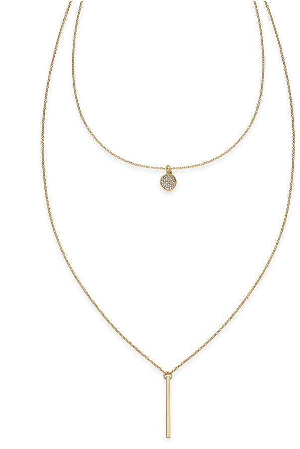 INC International Concepts High-Low Layered Pendant Necklace, Created for Macy's