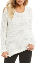 Takara Cold-Shoulder Chenille Sweater