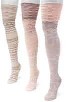 Muk Luks 3 Pair Over the Knee Socks