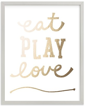 Pottery Barn Kids Minted Eat. Play. Love. Wall Art by Erica Krystek