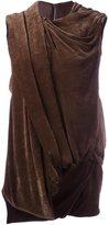 Rick Owens draped effect sleeveless top - women - Silk/Cotton/Viscose - 42