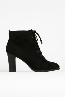 Wallis Black Lace Up Boot