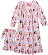 Disney Disney's Cinderella, Ariel & Belle Toddler Girl Nightgown Set by Dollie & Me