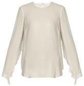 A.L.C. Sally open-back silk-crepe top