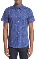 Paul Smith Men's Extra Trim Fit Cactus Print Sport Shirt