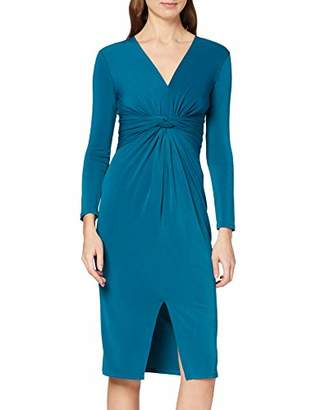 Dorothy Perkins Women's Long Sleeve Manipulated Waist Going Out Midi Dress,(Size:)