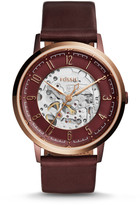 Fossil Vintage Muse Automatic Wine Leather Watch