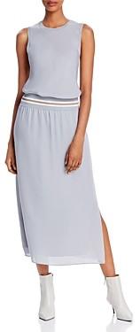 Theory Sport Stripe Silk Lewie Midi Dress