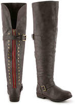 Journee Collection Women's Kane Wide Calf Over The Knee Boot -Grey