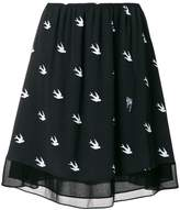 McQ embroidered swallow skirt