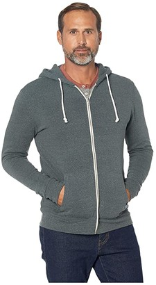 Threads 4 Thought Triblend Zip Front Hoodie (China Blue) Men's Sweatshirt