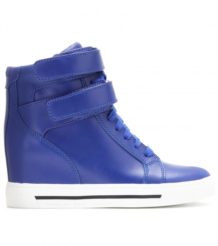 Marc by Marc Jacobs Concealed wedge leather high-top sneakers
