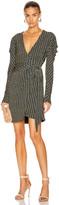 Jonathan Simkhai Chain Pleated Sleeve Mini Dress in Midnight Combo | FWRD