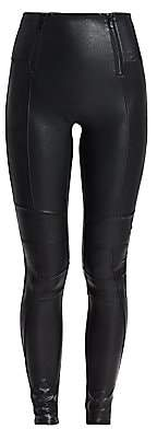 Spanx Women's Zippered Leather-Look Leggings
