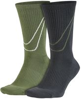 Nike Men's 2-pack Swoosh HBR Crew Socks