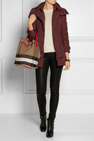 Burberry Shoes & Accessories Checked canvas hobo bag