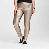 Dollhouse Women's Plus Size Metallic Skinny Pant Juniors')