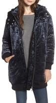 BP Women's Velvet Hooded Puffer Jacket