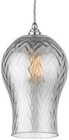 Heathfield & Co Tulipe Grey Smoke Lustre Large Pendant Light