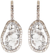 William Welstead 18ct white gold diamond earrings