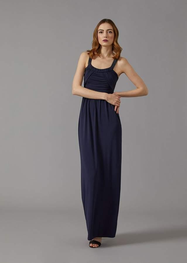 Giorgio Armani Maxi Dress With Rhinestone Straps