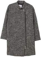 Mango Outlet Unstructured wool-blend coat
