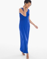 Chico's Sophia Side-Ruched Maxi Dress