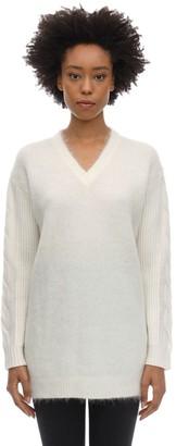 Max Mara Oversize Mohair Blend Knit Sweater
