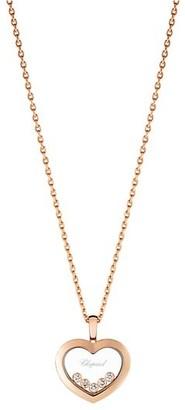 Chopard Happy Diamonds 18K Rose Gold & Diamond Pendant Necklace