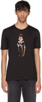 Dolce & Gabbana Black Royal Fox T-Shirt