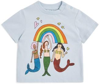 Stella McCartney Mermaid Rainbow Print T-Shirt