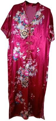 Non Signã© / Unsigned Oversize Red Silk Dresses