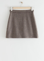 Thumbnail for your product : And other stories Houndstooth Wool Blend Mini Skirt